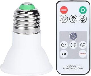 Ymiko Bombillas LED Lámpara UVC Bombillas LED Spotlight Luz Ultravioleta con función de Temporizador(E27)