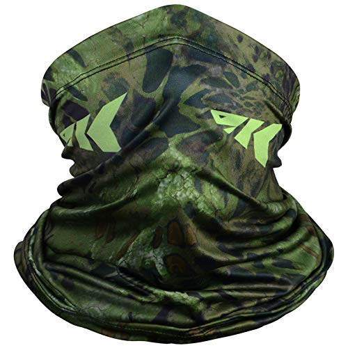 KastKing Sol Armis Neck Gaiter - UPF 50 Face Mask - UV Sun Protection Gaiter Sun Mask for Men & Women, Fishing, Hiking, Kayaking Mask, Prym1 Camo,Ambush,19x9.5 Inches