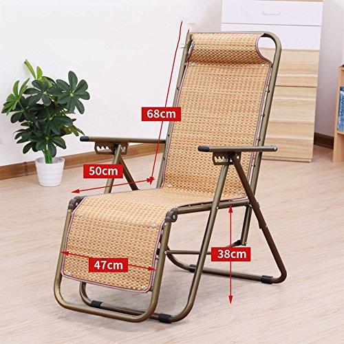 Chaise longue YNN Fauteuils pliants Fauteuil Pliant Siesta Lit Outdoor Summer Lunch Break Fauteuil (Couleur : C)