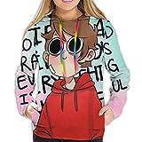 JAPYZEY EddsWorld Women Hoodie Sweatshirts 3D Graphic Print Drawstring Pullover M Black