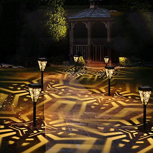 Lámparas Solares para Jardín GolWof 6 Piezas Luz Solar Exterior Jardin Farolillos Solares Luces Solares Jardin Exterior Decorativas para Patio Césped