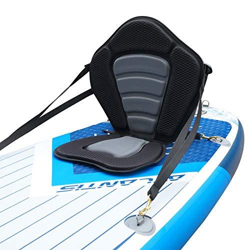 iBOARD Cojín de asiento para kayak/SUP desmontable universal con bolsa de carrera, diseño adecuado para todos los tamaños de cuerpo
