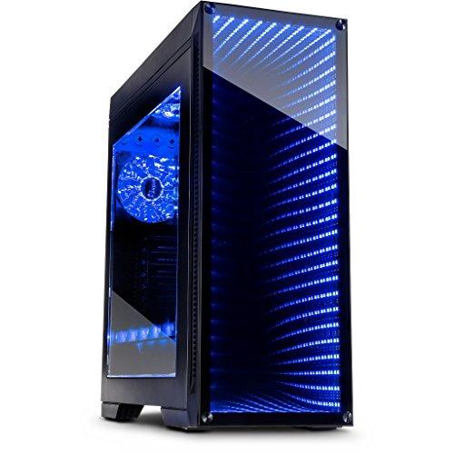 Inter-Tech m-908Turm schwarz Computer-Gehäuse-Gehäuse (Tower, PC, gehärtetes Glas, ATX, eATX, ITX, Micro-ATX, schwarz, Ventilatoren der Box)