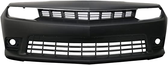 Front Bumper Cover Compatible With 2014-2015 Chevy Camaro   Factory Style Black PP Z28 Spring Edition Front Lip Spoiler Diffuser by IKON MOTORSPORTS