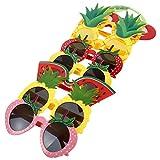 Homoyoyo Gafas de Fiesta Hawaianas para Niños Gafas con Forma de Fruta Accesorios para Fotos Gafas Decorativas Luau Hawaiano Decoraciones de Fiesta de Verano para Fiestas de Playa 8 Piezas