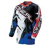 O'Neal Element MX Jersey Shocker Schwarz Rot Blau Motocross Cross