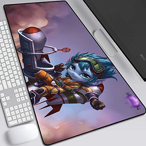 Gaming Mouse Mat Pad Large XXL Thick Extended Mousepad with Non-Slip Rubber Base, Smooth Cloth Surface, Anti-Fray Stitched Edges for Home (Color : I, Size : 400X900X3mm)