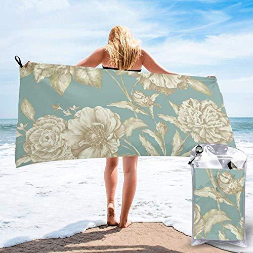 Toallas de Playa de Antiarena de Microfibra para Hombre Mujer, 130x80cm, Toallas Baño Calidad Gigante Secado Rapido para Piscina, Manta Playa, Toalla Yoga Deporte Gimnasio,Flor Floral