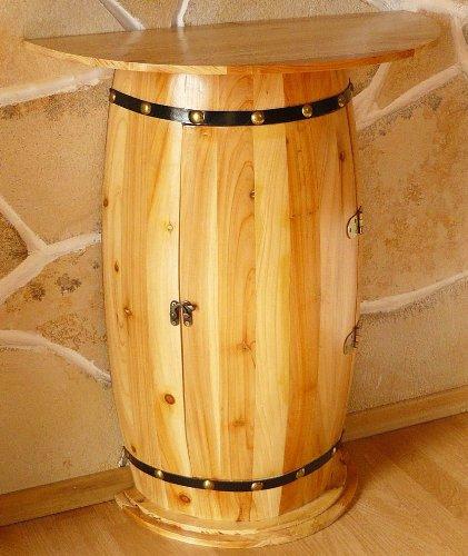 DanDiBo Wandtisch Tisch Weinfass 0373 Schrank Weinregal Fass aus Holz - 7