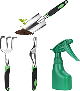 Sponsored Ad – 4Pcs Garden Tools Set Gardening Kit With Stainless Steel Hand Tool And Gloves For Gardening Lovers