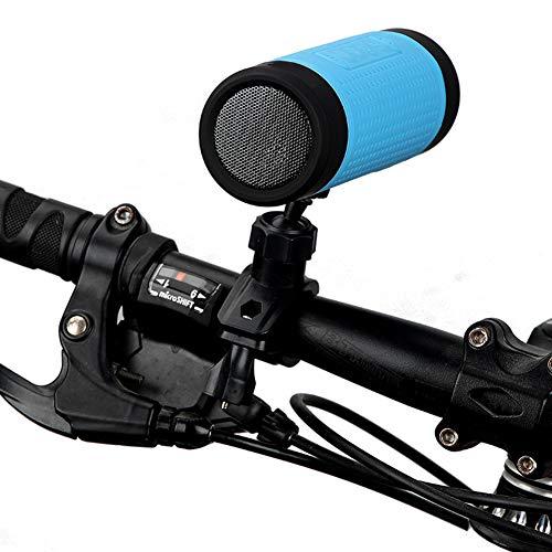 YOUANDMI Fahrradlicht,USB Aufladbar Led Vorne Fahrradlicht Set Mit Freisprecheinrichtung Bluetooth Lautsprecher,FM Transmitter Und 4000Mah Powerbank,5 Mode IP4 Wasserdicht Fahrradbeleuchtung,Bluepx2