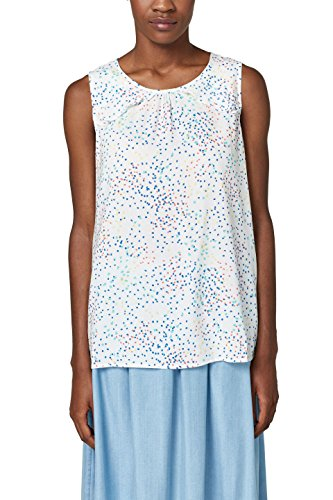 ESPRIT Damen 058EE1F014 Bluse, Mehrfarbig (Off White 110), 38