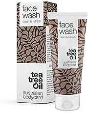 Australian Bodycare Face Wash, 100 ml   Płyn do codziennego mycia twarzy   Skutecznie oczyszcza skórę   Do pielęgnacji skóry trądzikowej   z 100% naturalnym Olejekiem z Drzewa Herbacianego