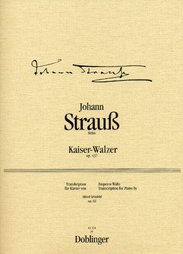 Kaiserwalzer Op 437. Klavier