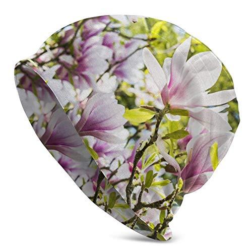 QUEMIN Bolsas Varios tamaños Hermosa Flor de Ciervo Gorro de Calavera Gorro elástico Gorros Holgados Sombreros de Moda de Punto de Invierno para Mujeres Hombres