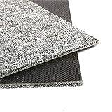 uyoyous Teppichfliesen 50x50cm Selbstliegend - Nadelfilz Teppich Fliesen für Büro & Gewerbe - 7 m² Teppichfliese mit Rutschhemmendem Vinyl-Rücken (28 Stück - Hellgrau)
