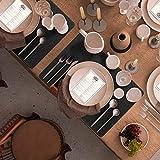 Le cielci® 18er Set Platzset aus Filz | rutschfest Abwaschbar Tischsets | Umweltfreundliche Wiederverwendbare Platzdeckchen | 6 Platzsets , 6 Glasuntersetzer, 6 Bestecktaschen | Tischset Anthrazit - 9