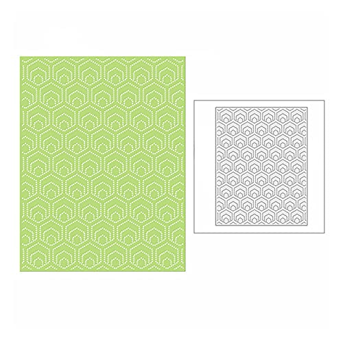 YUYLILI Spotty Hexagon Armor Panel de Corte Mallas de Corte de Metal para Bricolaje Scrapbooking y Tarjeta Fabricación de Fondo Crafting