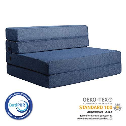 Milliard- Espuma Colchón y sofá Cama Plegable en Tres Partes 11,5 cm