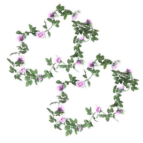 Artificial Flowers Rattan, Flower Vine Reusable 2Pcs 230cm Long for Wedding for Party