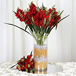 Tableclothsfactory 216 Artificial Freesia Flowers – Red