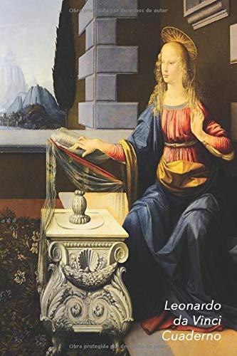 Leonardo da Vinci Cuaderno: Anunciación | Ideal para la Escuela, el Estudio, Recetas o Contraseñas | Perfecto Para Tomar Notas | Diario Elegante