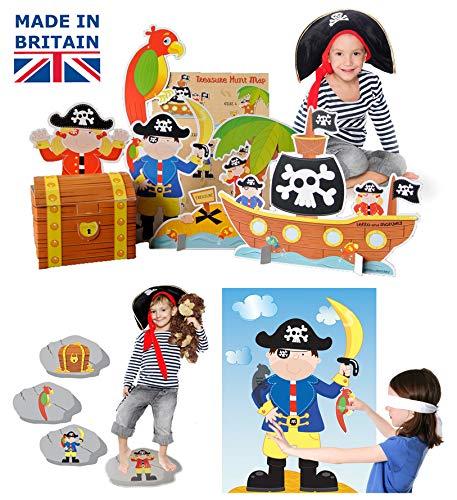 Lello and Monkey Partido Pirata Juegos - Conjunto de 3 para los ninos
