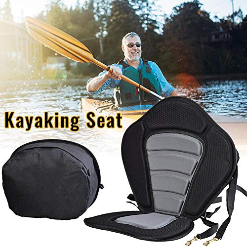 juman634 Asiento de Kayak con Respaldo Asiento de Barco Base Suave y Antideslizante Respaldo Alto Asiento de cojín Ajustable para Kayak