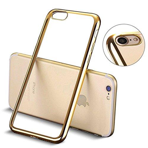 Todobarato24h Funda TPU Lisa Transparente con Filo Dorado Compatible con iPhone 6...