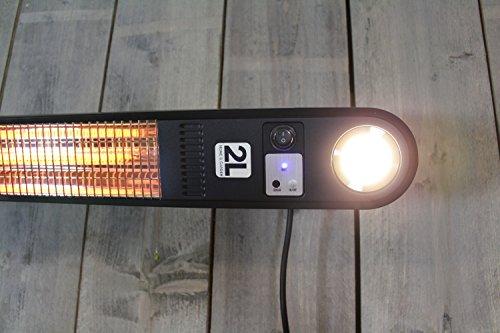 Heizstrahler Elegance mit LED Beleuchtung – 1500 Watt – Schwarz – Deckemontage - 2