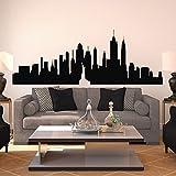 New York Skyline parete adesivo da parete in vinile, Ctiy Sticekrl New York Wall Art Décor-Decorazioni da parete, motivo: mongolfiere, Vinile, nero, 35'x96'