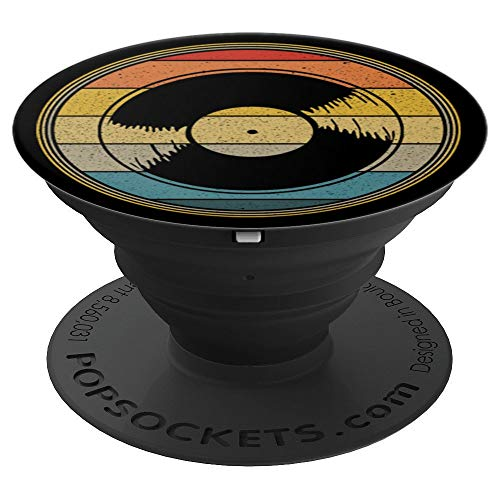 Retro 33 RPM Vinyl Record Sunset PopSockets Grip and Stand for Phones and Tablets