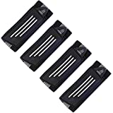 Kasteco 4 Pack Elastic Bike Bicycle Ankle Leg Riding Puttee Cycling Safety Bind Pant Bands Clip Strap Belt Fully Adjustable for Cycling, Jogging, Camping