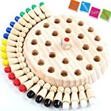 Wooden Memory Match Stick Chess Game, Color Memory Chess, Funny Block Board Game,Memory Match Stick Chess Game,Parent-Child Interaction Toy,Brain Teaser for Boys and Girls Age 3 and Up