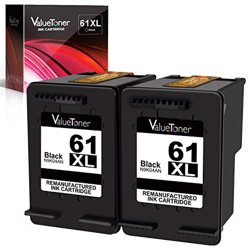 Valuetoner Remanufactured Ink Cartridge Replacement for HP 61XL 61 XL High Yield for HP Envy 4500 5530 5534, Deskjet 2540 1000 1010, Officejet 4630 2620 4635 Printer (2 Black)