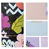 Floral Sticky Notes Set, Office Supplies for Women, Cute School Supplies, Colored Divider Self-Stick Notes Pads Bundle, Large and Small Sticky Notes Set Colored Divider Sticky Notes, Flower Theme Desi