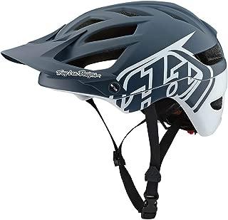 Troy Lee Designs Adult   Trail   Enduro   Half Shell A1 Classic Mountain Biking Helmet with MIPS (Medium/Large, Gray/White)