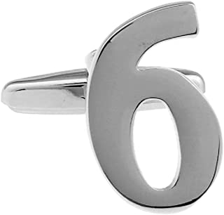 MRCUFF Number 1 Numeral Pair of Cufflinks with a Presentation Gift Box & Polishing Cloth