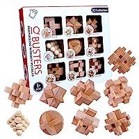 OBEST 孔明パズル 木製パズル 脳トレ 立体パズル 知恵おもちゃ 9pcsセット 攻略図付