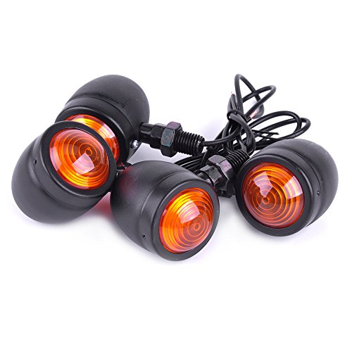 SFONIA 4pcs Indicateurs de Moto Clignotants Lumières 12V Imperméable Universel pour Moto Scooter Quad Cruiser Off Road