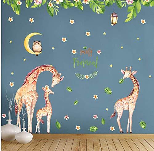 Preisvergleich Produktbild Zhyp Wall Sticker Diy Abnehmbare Vinyl Cartoon Tier Wandaufkleber Badezimmer Küche Dekoration Klebstoff Wasserdichte Pvc Aufkleber Tapete 130 * 140 Cm