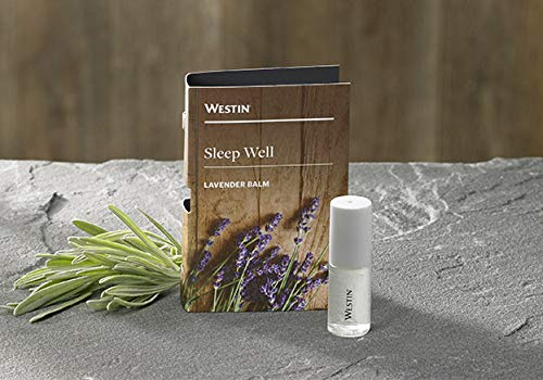 Westin Hotel Sleep Well Lavender Balm - Lavender and Chamomile Essential Oils Roll-On for Better Sleep - 10 ml