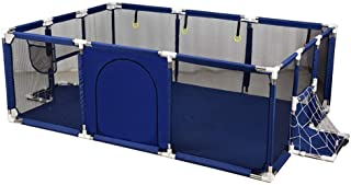 XHJYWL Playpen Baby Toddler Extra Large 12-Panel Portable Play Yard Children s Play Fence with Door  190x129x66cm  Color Blue