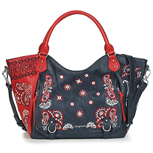 DESIGUAL BANDANA EXPLOSIVE ROTTERDAM Handtassen femmes Marine/Rood - One size - Handtassen lang hengsel