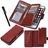 Urvoix for Apple iPhone 8 Plus/iPhone 7 Plus/iPhone 6S Plus(5.5' Display), Wallet Leather Flip Card Holder Case, 2 in 1 Detachable Magnetic Back Cover iPhone 8Plus/7Plus/6Plus(NOT for iPhone8)