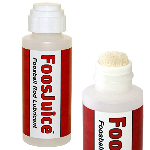 FoosJuice 100% Silicone Foosball Rod Lubricant with Dauber Top Applicator - The Clean and Easy to Use Lube