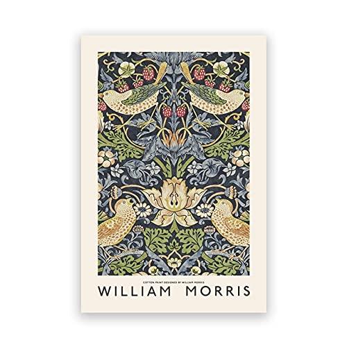 Exposición del Museo William Morris, pintura en lienzo, carteles e impresiones vintage, imágenes artísticas de pared abstractas, decoración del hogar, B 30x40cm