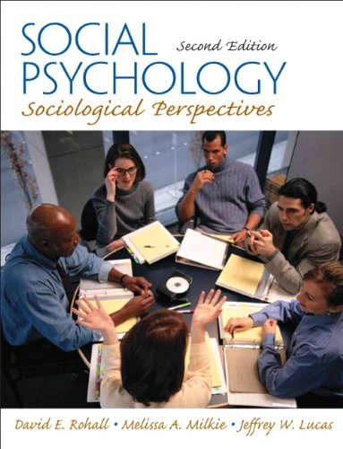 Social Psychology: Sociological Perspectives