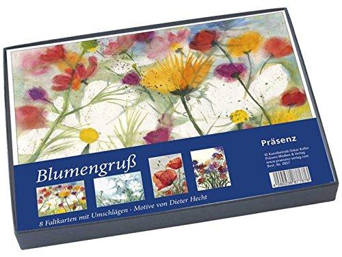 Geschenkbox Blumengruß: 8 Faltkarten B6 mit Umschlag