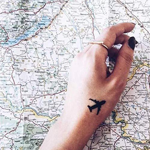 Tatouage Temporaire Avion (4 Pièces) - ohmytat.com